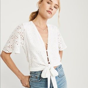 ABERCROMBIE & FITCH Eyelet Blouse